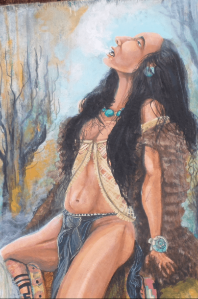 Horse Woman Breathes Painting by S.M. Elias